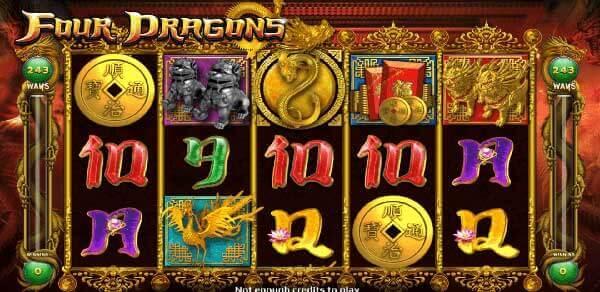 รีวิวเกม Four Dragons สัญลักษณ์ที่พบในเกม