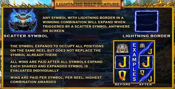 รีวิวเกม Linghtning God Lightning Bolt Feature