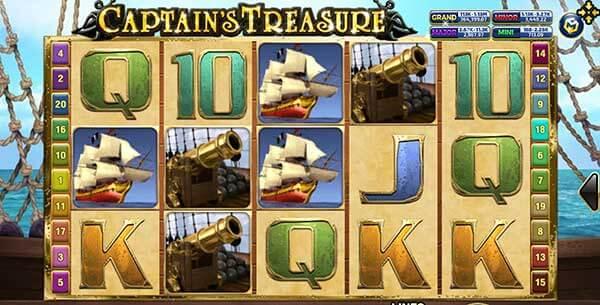 รีวิวเกม Captain Treasure PRO สัญลักษณ์ที่พบในเกม