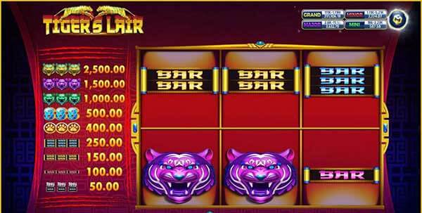 รีวิวเกม Tiger Lair สัญลักษณ์ที่พบในเกม