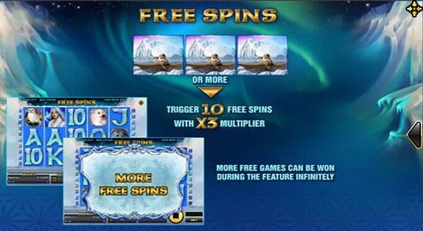 รีวิวเกม Arctic Treasure Free Spin