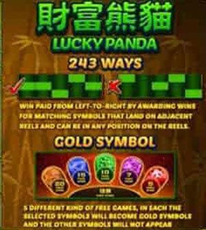 lucky panda PAYLINES