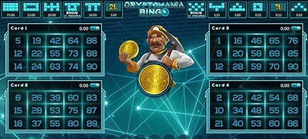 รีวิวเกม Crypto Mania Bingo สัญลักษณ์ที่พบได้ในเกม