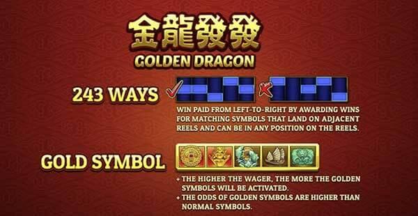 Golden Dragon PAYLINES